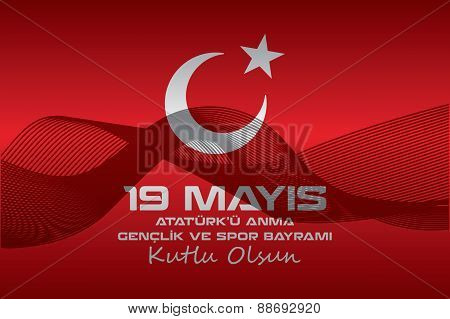 Which is celebrated every year on May 19, the Republic of Turkey and the Turkish Republic of Northern Cyprus is a national holiday. poster