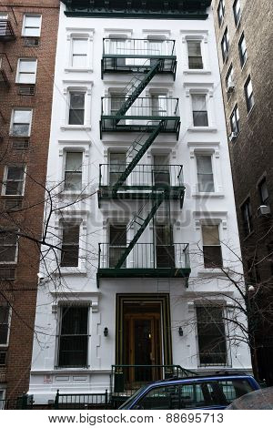 White And Green Building NYC