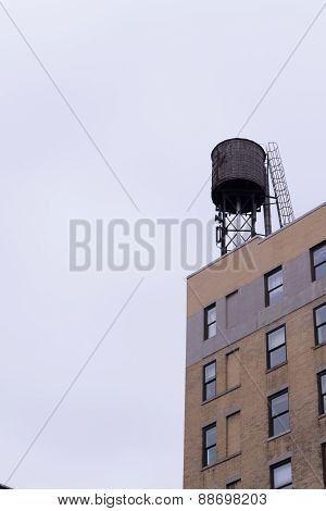 Water Tower Against The Sky