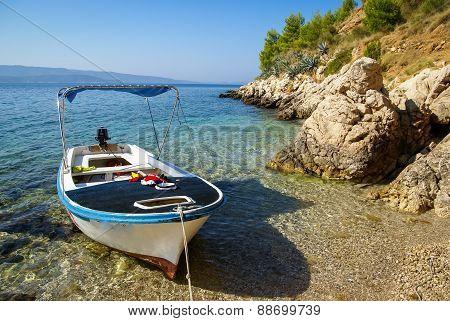 Image of Seascape at Bol Brac Croatia poster