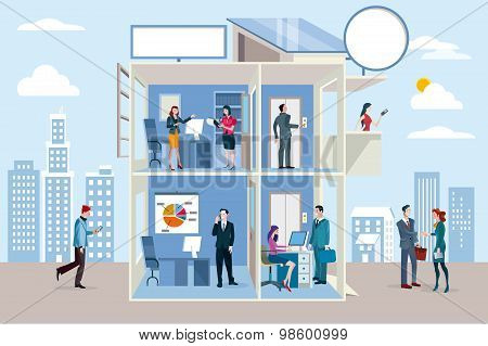 Transparent Office Building