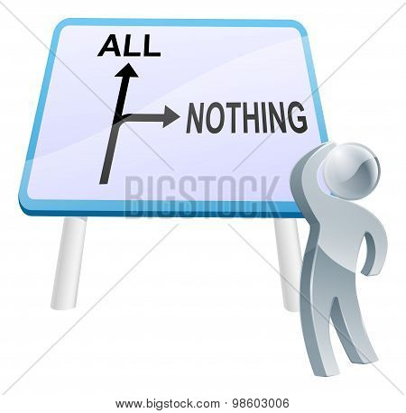 All Or Nothing Sign