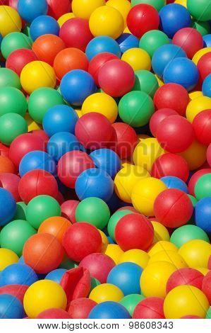 plastic colored ball