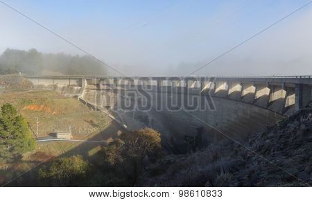 The Dam Wall At Carcoar Nsw Australia