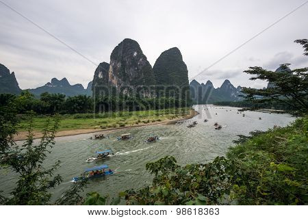 The Tourboats On Li River