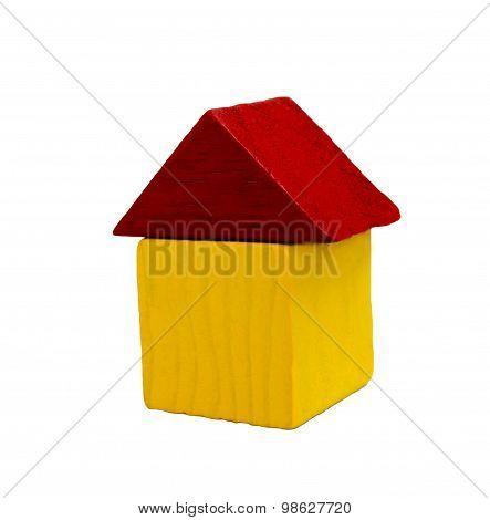 House of bricks, building blocks isolated