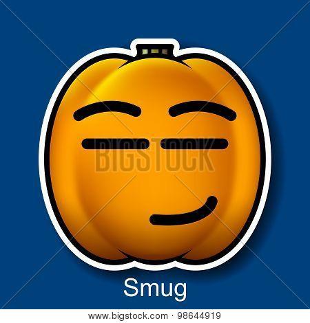 Vector Halloween Smiley Smug
