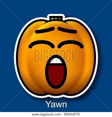 Vector Halloween Smiley Yawn