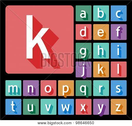 Elegant minimalistic vector alphabet in artdeco style. Lowercase letters