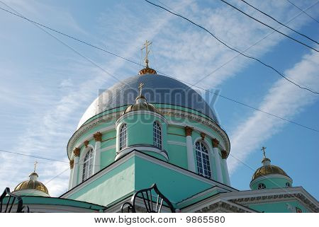 Kursk. Znamensky A Monastery. A Cathedral Of An Icon Of Bozhiej Of Mother