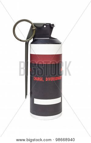 MK141 FRAG explosive model weapon armystandard timed fuze hand grenade on white background poster
