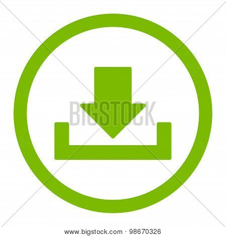 Download vector icon. This rounded flat symbol is drawn with eco green color on a white background. poster