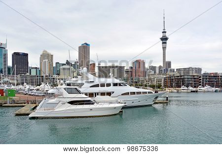 Luxury Cruising Boats In Viaduct Basin, Auckland