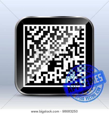 Datamatrix Icon. App Series