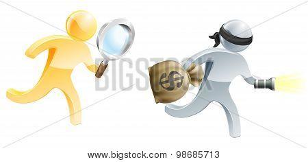Running After Burglar
