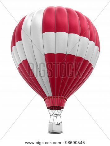 Hot Air Balloon with Danish Flag (clipping path included)