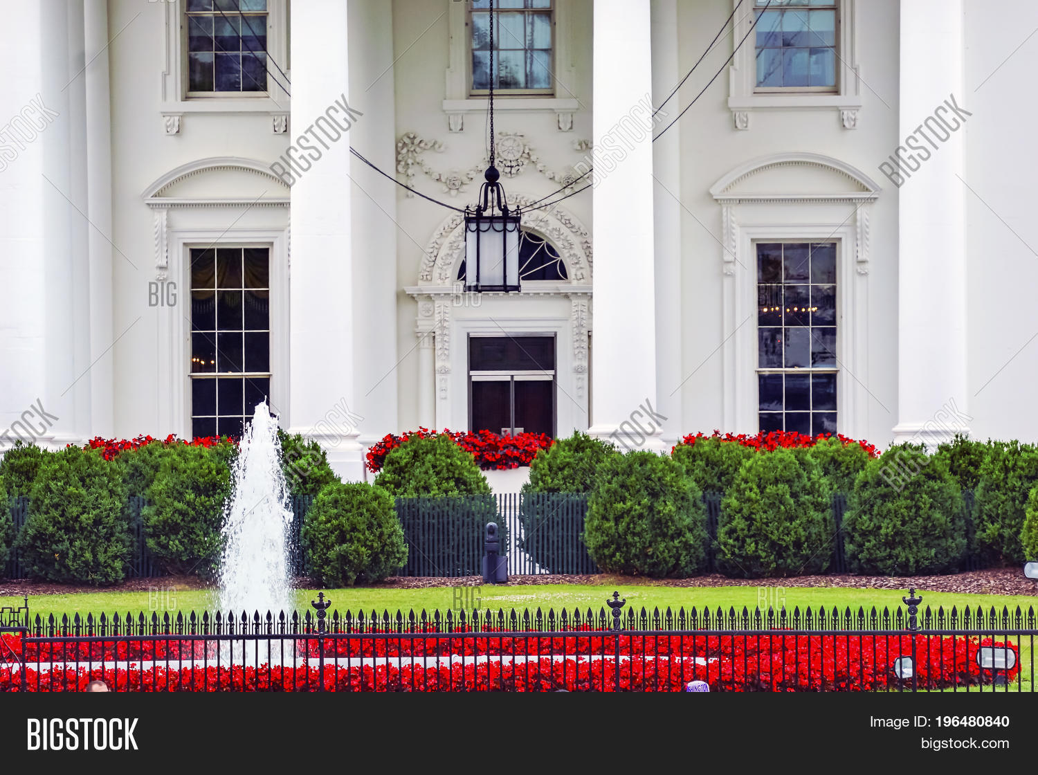 White House Door Red Image Photo Free Trial Bigstock