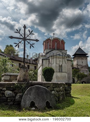 Studenica monastery, 12th-century Serbian orthodox monastery located near city of Kraljevo