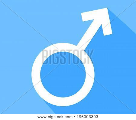 Male sex symbol, vector art illustration masculinity.