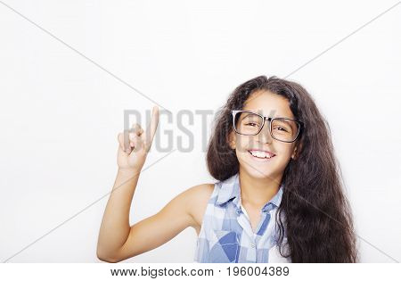 Image Of A Beautiful African Young Girl Wearing Glasses.