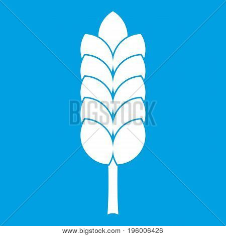 Big spica icon white isolated on blue background vector illustration