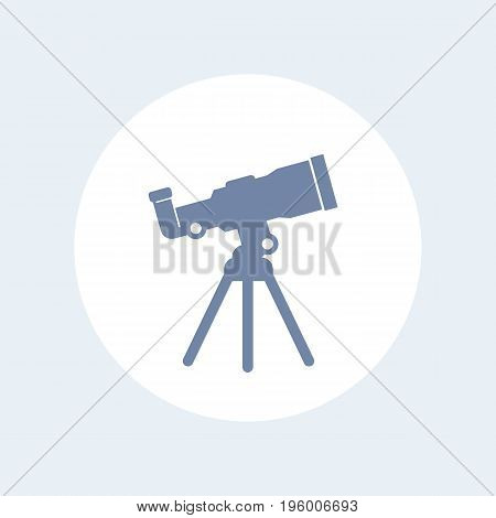 telescope icon isolated on white, eps 10 file, easy to edit