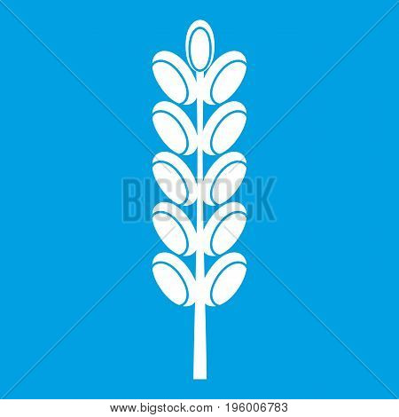 Field spike icon white isolated on blue background vector illustration