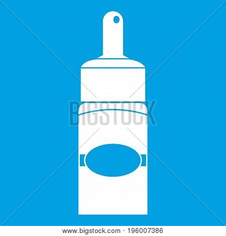 Medical drops icon white isolated on blue background vector illustration