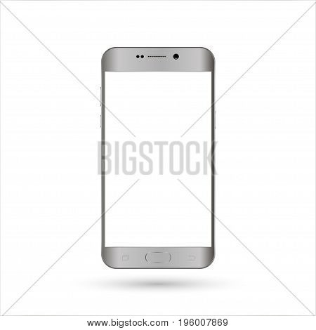 Realistic smartphone silver color. For web element and application mockup