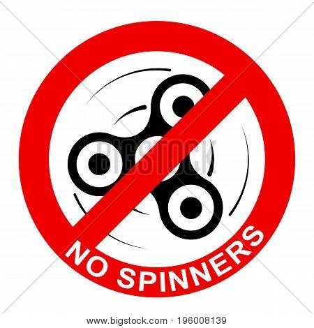 Sign, Prohibition Of Toys - Spinners.