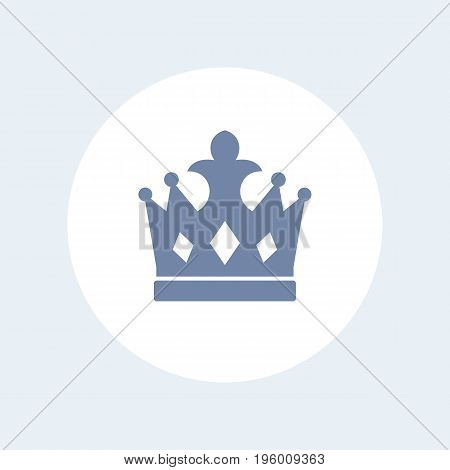 crown icon isolated over white, eps 10 file, easy to edit