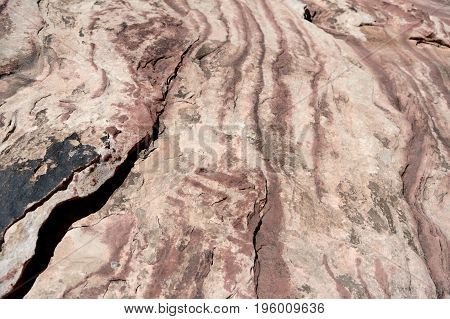 Texture Of Rock Wall In Red Rock Canyon, Nevada
