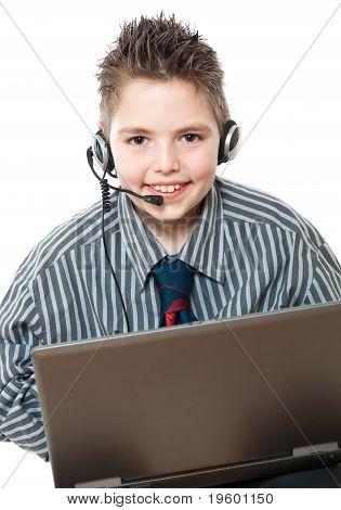 portrait of smiling business boys