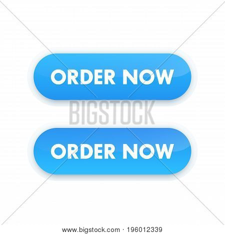 order now button for web design, blue on white
