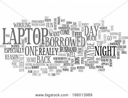 A LAPTOP OF MY OWN TEXT WORD CLOUD CONCEPT