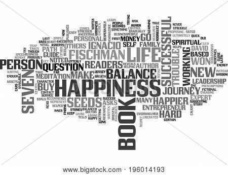 A JOURNEY TO HAPPINESS AND BALANCE TEXT WORD CLOUD CONCEPT