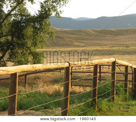 Fence And Mountains