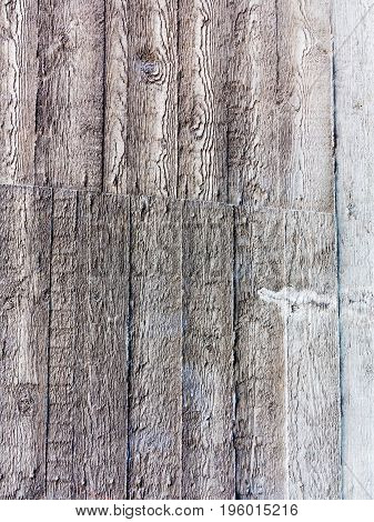 Creative Unusual Background Of The Cement Wall With The Imprint Of The Texture Of Wooden Board Formw