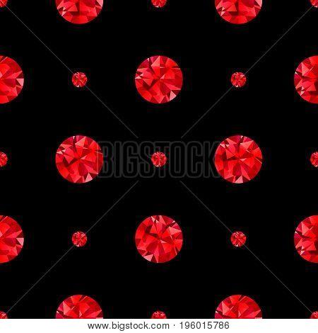 Diamond seamless pattern black background sapphire, mineral, collection, sparkle, fashion, transparent