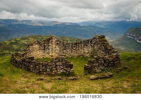 Lost city of Peru - the ancient ruins of Kuelap near Chachapoyas