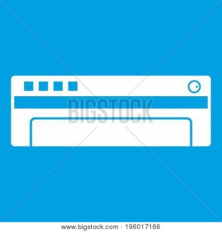 Conditioner icon white isolated on blue background vector illustration