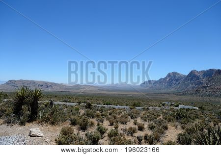View Of The Valley In A Red Rock Canyon, Nevada