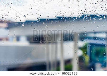 Drops Of Rain On A Window Glass