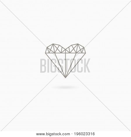 Simple linear icon of heart on white background. Love. Wedding. Valentine s Day
