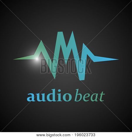 Music background with audio beats for text logo