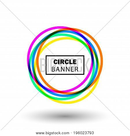 Colorful circle shap. Round banner for design element