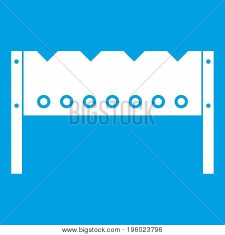Brazier icon white isolated on blue background vector illustration