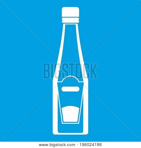 Bottle of ketchup icon white isolated on blue background vector illustration