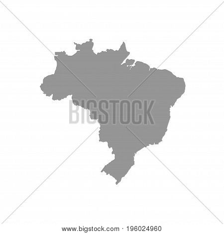 Gray map Brasil on a white background