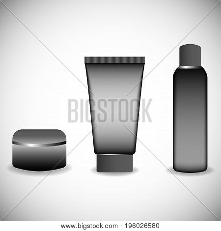 Cosmetic isolated product 3d. Realistic cosmetic bottle. Plastic cosmetic bottle vector illustration
